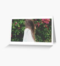 Let the wind blow your hair about Greeting Card