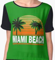 Miami Paradise Beach TShirt Maimi Beach Sun Sand T-Shirt Chiffon Top