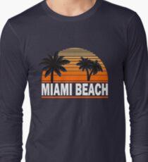 Miami Paradise Beach TShirt Maimi Beach Sun Sand T-Shirt Long Sleeve T-Shirt