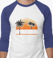 Miami Paradise Beach TShirt Maimi Beach Sun Sand T-Shirt Men's Baseball ¾ T-Shirt