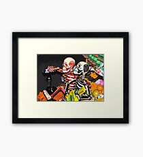 CAN'T HOLD HIS LIQUOR Framed Print