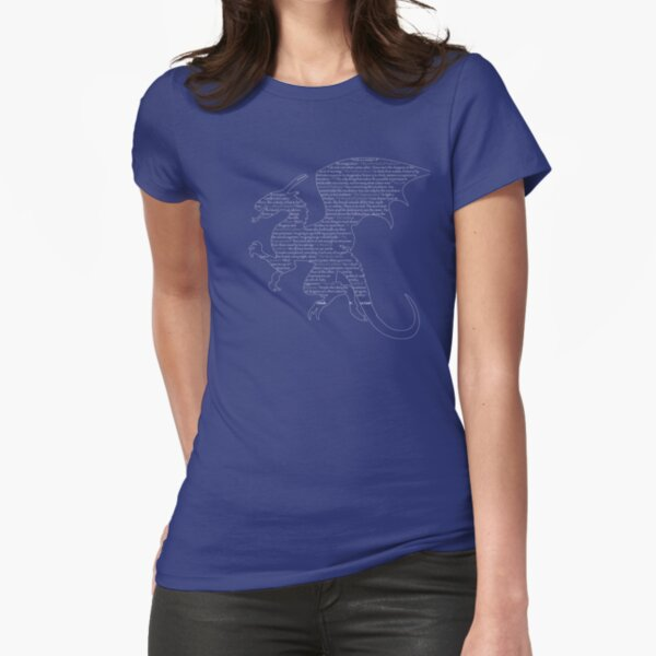Le Guin Dragon Fitted T-Shirt
