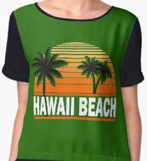 Hawaii Beach T-Shirt Hawaiian Paradise Beach Sun Sand TShirt Chiffon Top