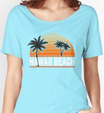 Hawaii Beach T-Shirt Hawaiian Paradise Beach Sun Sand TShirt Women's Relaxed Fit T-Shirt
