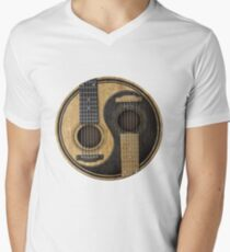 Bass Guitar T Shirt - Music Pulse, Notes, Clef, Frequency, Wave, Sound, Dance Mens V-Neck T-Shirt