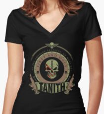 TANITH - BATTLE EDITION Women's Fitted V-Neck T-Shirt