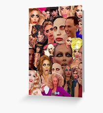 Alyssa Edwards Collage Greeting Card