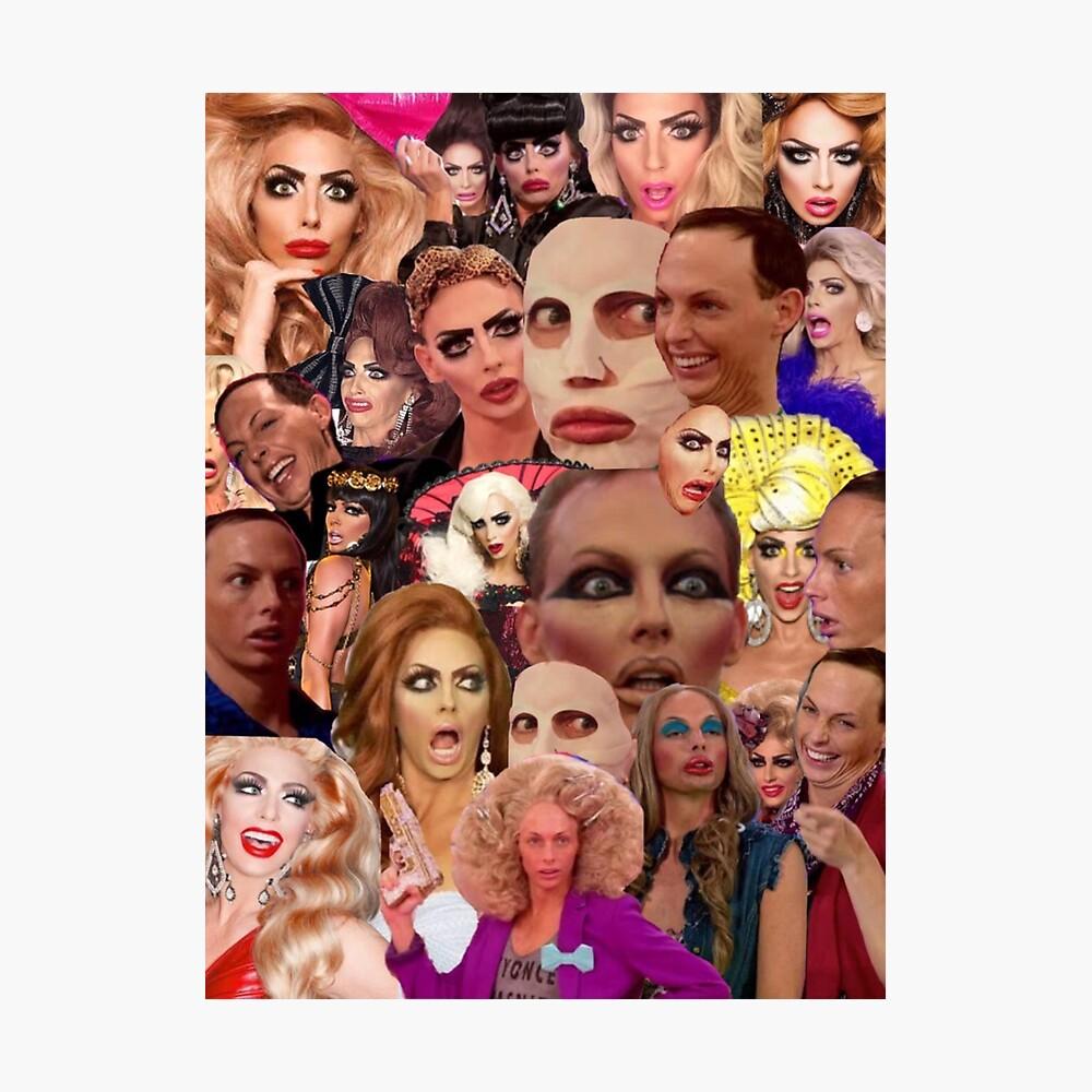 Alyssa Edwards-Collage Fotodruck