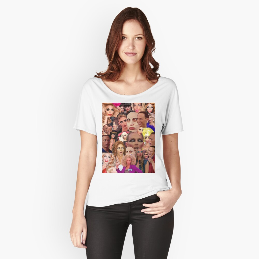 Alyssa Edwards-Collage Loose Fit T-Shirt