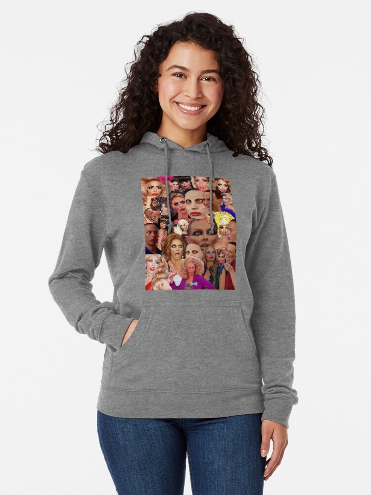 Alternative Ansicht von Alyssa Edwards-Collage Leichter Hoodie