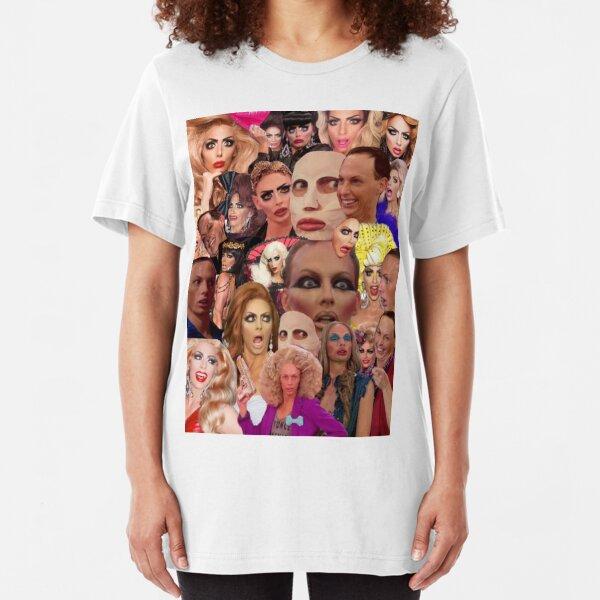 Alyssa Edwards Collage  Slim Fit T-Shirt