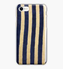 Velvet Navy & Cardboard Stripes iPhone Case/Skin