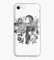 Dove art black and white iPhone Case/Skin