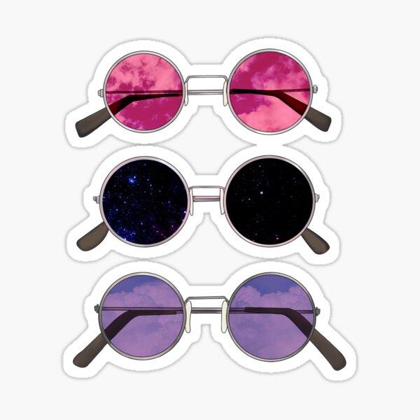 Three Sunglasses Sticker