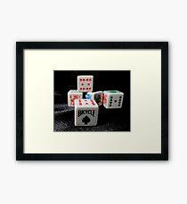 Gambling Dice Framed Print