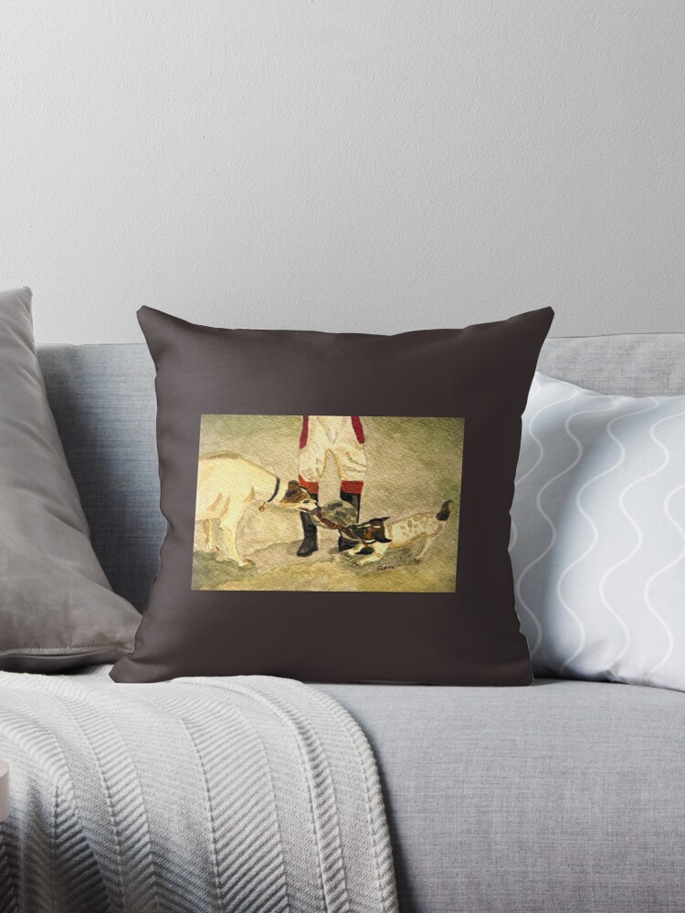 Quot Caught In The Act Quot Throw Pillows By Angiedavies Redbubble