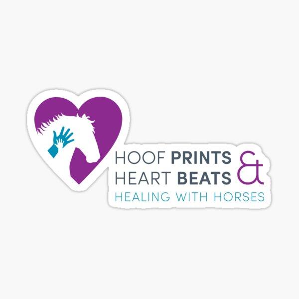 Hoof Prints and Heart Beats -- Color Sticker