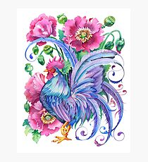 Year of the Rooster - Blue / Water Rooster   Photographic Print