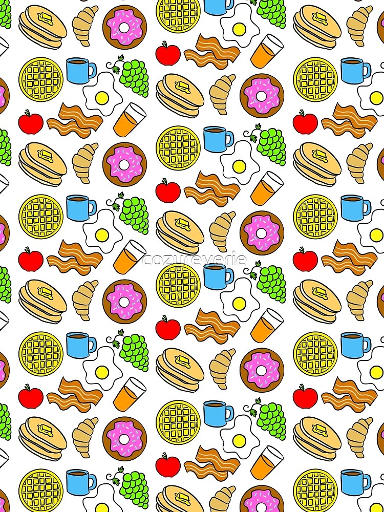 Colorful Breakfast Foods by cozyreverie