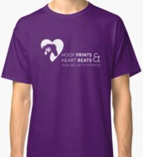 Hoof Prints and Heart Beats -- White on Purple Classic T-Shirt