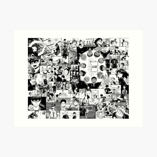 Haikyuu !! Karasuno Collage Kunstdruck