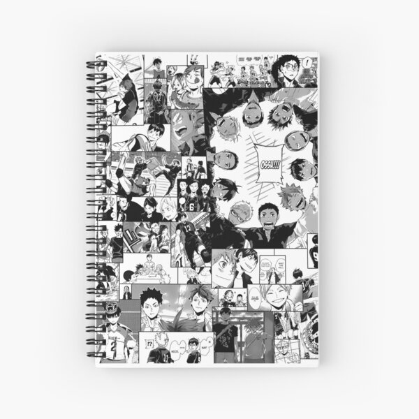 Haikyuu!! Karasuno Collage Spiral Notebook