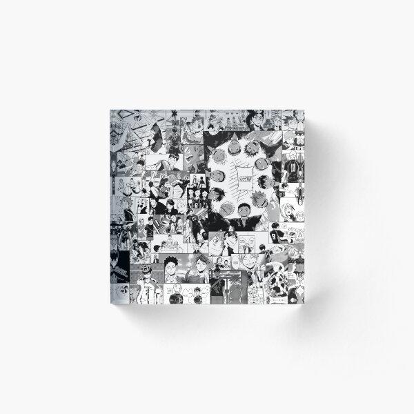 Haikyuu!! Karasuno Collage Acrylic Block