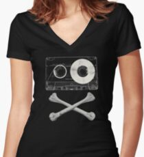 Pirate Music Women's Fitted V-Neck T-Shirt