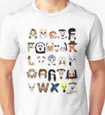Horror Icon Alphabet Unisex T-Shirt