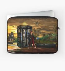 time and space traveller lost in the pirates AGE Laptop Sleeve