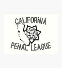 California Penal League Art Print