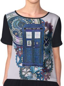 Time and Space Doctor Who inspired Art Chiffon Top
