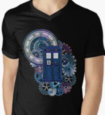 Time and Space Doctor Who inspired Art Mens V-Neck T-Shirt