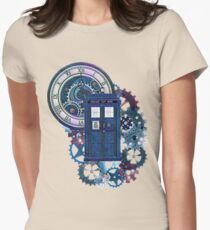 Time and Space Doctor Who inspired Art Womens Fitted T-Shirt