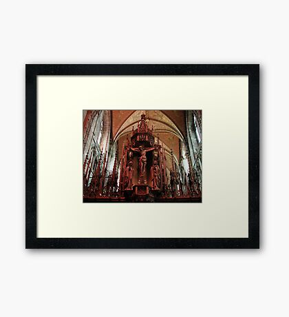 Chester Cathedral Nave, Chester, Cheshire, UK Framed Print