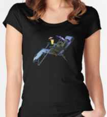 Mexican Summer Raccoon Women's Fitted Scoop T-Shirt