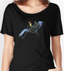 Summer Vacation Raccoon Women's Relaxed Fit T-Shirt