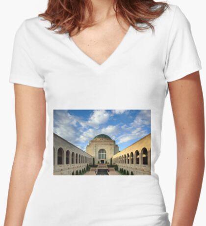 Australian War Memorial Women's Fitted V-Neck T-Shirt