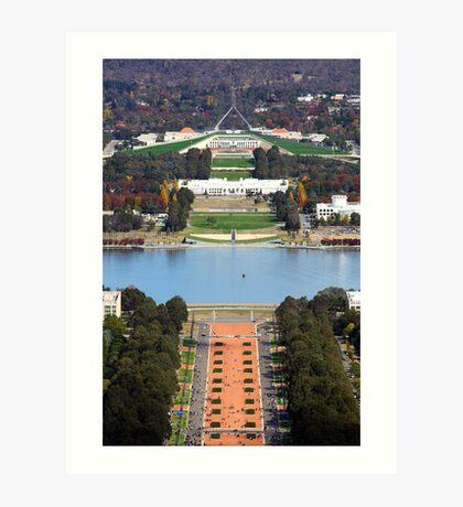 Anzac Parade - Canberra Art Print