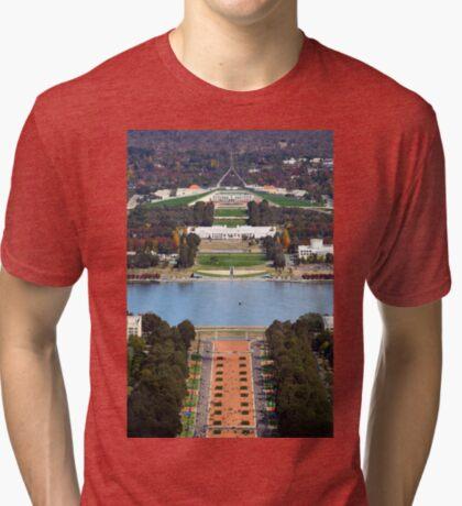 Anzac Parade - Canberra Tri-blend T-Shirt