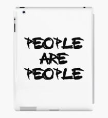 People Are People - Depeche Mode iPad Case/Skin