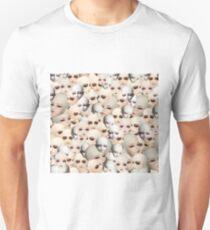 Dollfie Doll Heads Collage Unisex T-Shirt