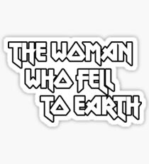 THE WOMAN WHO FELL TO EARTH - David Bowie Sticker