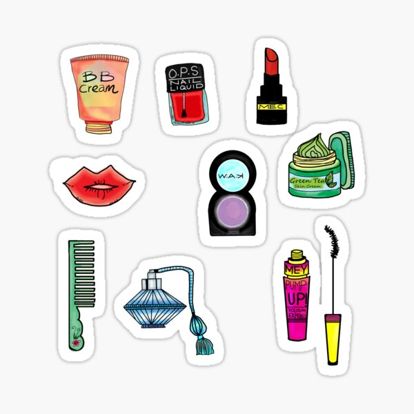 Cosmetic Doodles Sticker
