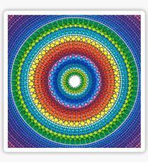 Happy Rainbow Mandala Sticker