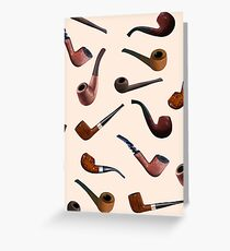 Tobacco Pipes Greeting Card