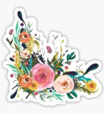 Pretty Watercolor Garden Floral Sticker