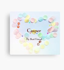 Casper - my best friend Canvas Print