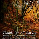 Thanks For All You Do by Charles & Patricia   Harkins ~ Picture Oregon