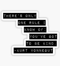 Kurt Vonnegut Sticker
